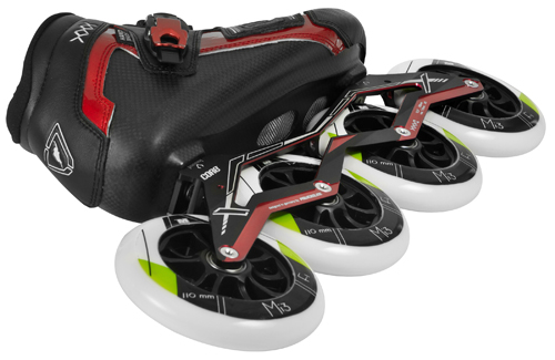 powerslide core triple x komplett speed skates 4x 110mm edition xxx complete ebay. Black Bedroom Furniture Sets. Home Design Ideas